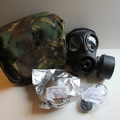 Original British Army-Special Forces Issue-Avon S10 Gas Mask Respirator + Extras