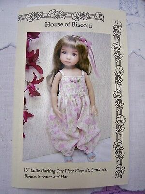 """Effner 13"""" Little Darling PATTERN  Romper, Dress, Knitted Sweater and Hat"""