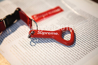 Supreme Red Lanyard Key Ring Chain with Bottle Opener Keychain Sold Out