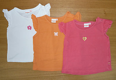 Debenhams / bluezoo set of 3 girl's t-shirts, size 6-9 months