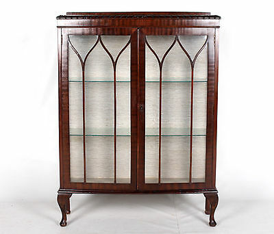 Antique Bookcase Glazed Astragal Display Cabinet Mahogany Glass China Cupboard