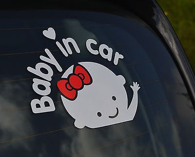 Car Window sticker Baby On Board Warning Decal Reflective Body Sign. 0212