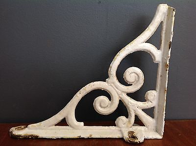 Vintage Painted Cast Iron Wall Bracket