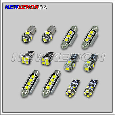 FORD FOCUS II MK2  - INTERIOR CAR LED LIGHT BULBS KIT (7pcs) - XENON WHITE