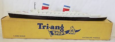 Vintage Tri-ang Minic Waterlines Ship M.704 - SS United States VGC & Boxed