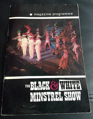 PALACE THEATRE MANCHESTER 1971 THE BLACK & WHITE MINSTREL SHOW programme