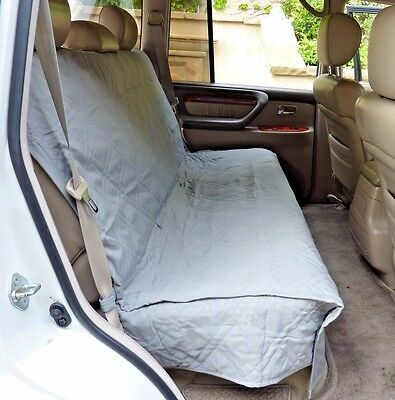 Suv Truck Car Back Seat Bench Cover For Dogs and Cats. Quilted & Padded. Grey