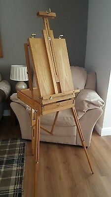 Reeve Easel Wooden Sketch Box Portable Folding Artists Field & Studio Tripod