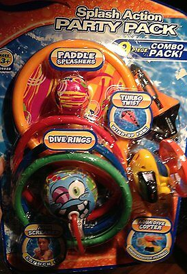 Pool Toys For Kids Swimming Dive Sticks Diving Rings Swim Beach Bath Fun 9 Piece