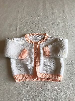 Baby Girls Clothes 0-3 Months  -  Lovely Hand  Knitted Cardigan -