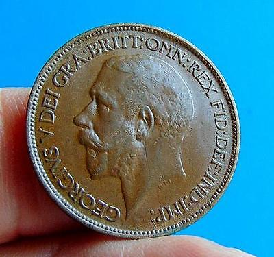 A  TONED  HIGH  GRADE  1920  GEORGE  V  HALFPENNY  1/2d ....LUCIDO_8  COINS