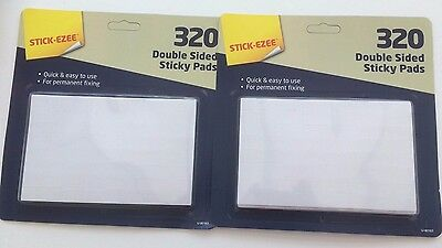 640 x Self Adhesive Double Sided Sticky Pads