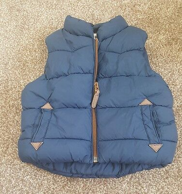 Next baby boys padded gillet aged 6-9 months