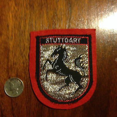 Vintage German Germany Stuttgart Coat of Arms Souvenir Travel Patch Version 4