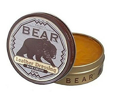 Bear Grease Leather Boots/Shoes/Jackets Dressing Waterproof Conditioner 3.5 oz
