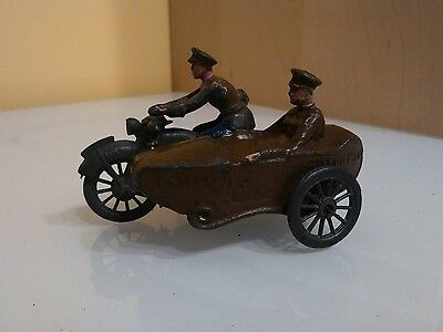 Johillco , John Hill & Co Military Motorcycle & Sidecar  1/32 Lead figures , toy