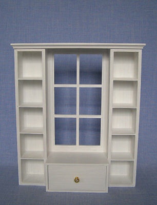 shelves with window for 12 inch doll 1:6 scale Barbie Dollhouse Furniture