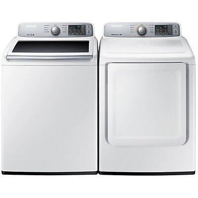 Samsung WA45H7000AW/A2 DVE45H700EW/AC Top Load Washer Electric Dryer Pair - DEAL