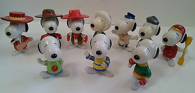 Peanuts Snoopy MacDonald's World Tour Figures Set of 10
