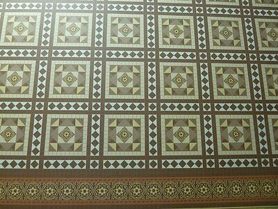 Dolls House Miniature 1:12th Scale Victorian Tile Flooring Wallpaper (PP95)