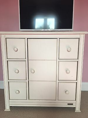 Real Wood Mamas and Papas Ivory White Chest Of Drawers - Orchard Range