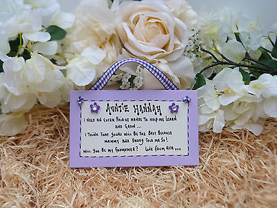 A02 Personalised Will you be my Godmother, Godfather, Godparents gift plaque
