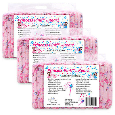 Rearz Pink Princess ABDL Night time Diaper - 12 Nappies per Pack