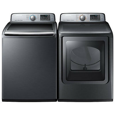 Samsung WA50M7450AP/A4 DVE50M7450P/AC Top Load Washer and Dryer Set - With WRNTY