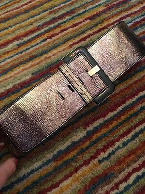 Ted Baker Waist Belt Black And Gold Leather