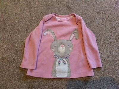 Joules, 12-18 months, pink long sleeved top, applique design.