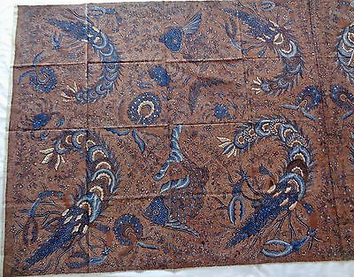 Indonesian Kain Panjang Batik, Lobsters/crab/fish, Dotted Soga 4 Repairs Vintage