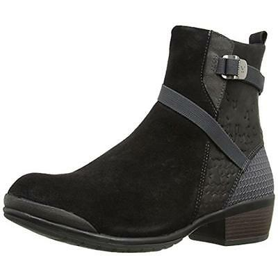 Keen 0385 Womens Morrison Black Leather Ankle Boots Shoes 5 Medium (B,M) BHFO