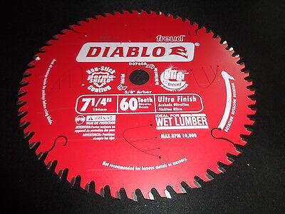 "DIABLO D0760A 7-1/4"" 60T Circular Ultra Finish Saw Blade fits Dewalt DCS575"