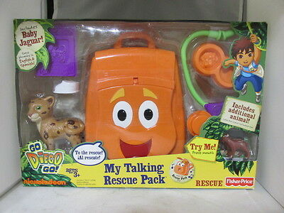 Fisher-Price Go Diego Go My Talking Rescue Pack (backpack) NIB