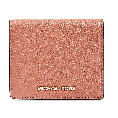 NWT Authentic Michael Kors Mercer Carryall Card Case Wallet ~Antique Rose