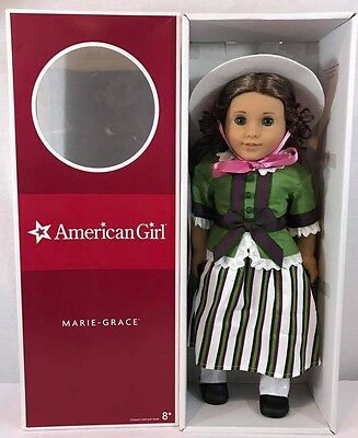 New! American Girl MARIE GRACE Historical Doll Retired with Party dress 18""
