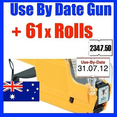 Use By Date Price Pricing Gun Labeller +61 Rolls Label