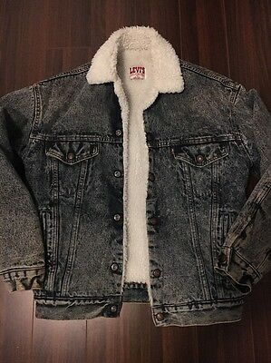 Vintage Levi's Sherpa Trucker Jacket Made In USA XS