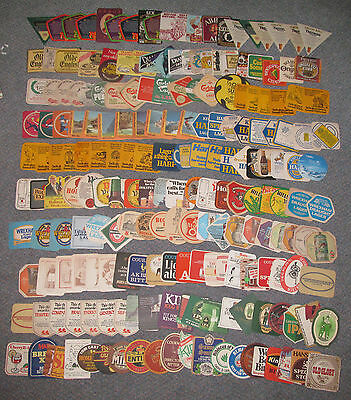 Huge Collection of  200 Mixed Beermats brewery etc - 1950's+ - great selection