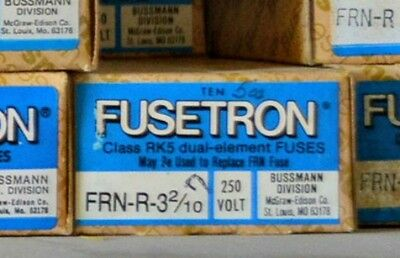FRN-R-3-2/10 Amp FUSETRON Time Delay BUSSMANN Class RK5 Fuse NEW Lot of 10 250V