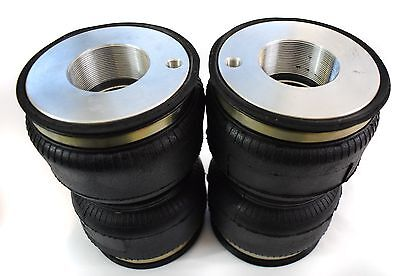 Set of 4 screw on air ride suspension bags to lift BC coilovers - Various sizes