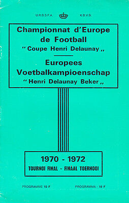 1972 European Championships Tournament Programme