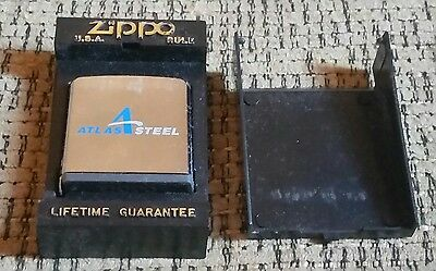 VINTAGE ZIPPO 6' FOOT TAPE MEASURE IN BOX Atlas Steel Advertising ANTIQUE old!!