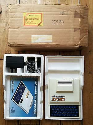 ZX80 Sinclair computer working with ORIGINAL postage box rare vintage