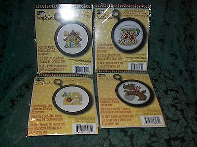Mary Engelbreit Counted Cross Stitch Kits-Set Of 4-New