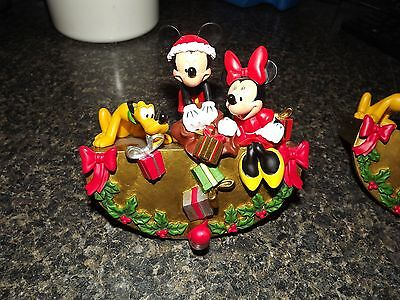DISNEY Store Mickey, Minnie And Pluto Holiday Stocking Holder Hanger