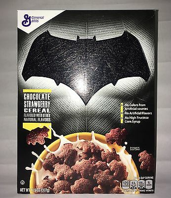 Batman **Holographic Imprinted** Cereal Box New With Cereal! Very Rare A Print!