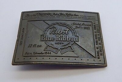 Wyoming Studio Art Works Pabst Blue Ribbon Belt Buckle 3 Inch R14097