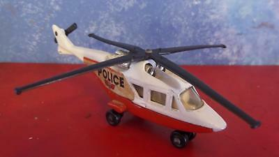 Vintage Matchbox Diecast Police Helicopter Chopper Made in England 1976 Lesney