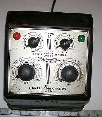 Lionel V Transformer 150 Watts 4-Trains Controls Lots of  Power for Older Trains